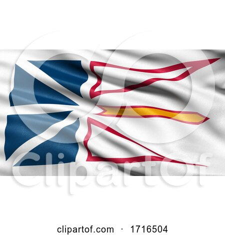 Flag of Newfoundland and Labrador Waving in the Wind by stockillustrations