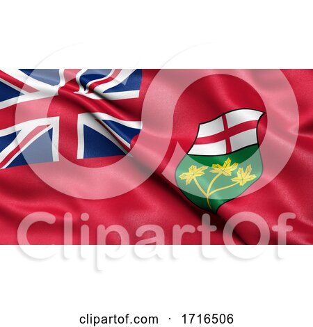 Flag of Ontario Waving in the Wind by stockillustrations