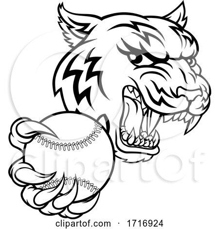 Tiger Tennis Player Animal Sports Mascot by AtStockIllustration