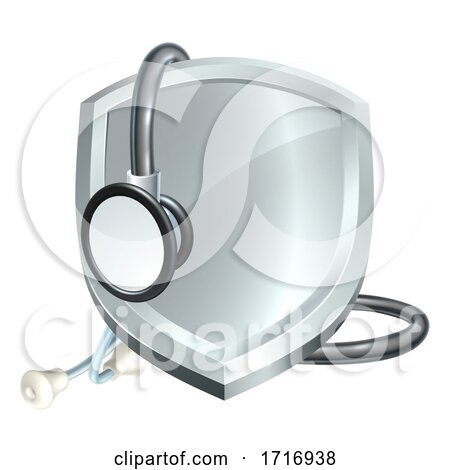 Shield Stethoscope Medical Health Concept by AtStockIllustration