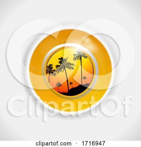 Yellow Summer Bingo Lottery Ball 3D Illustration by elaineitalia