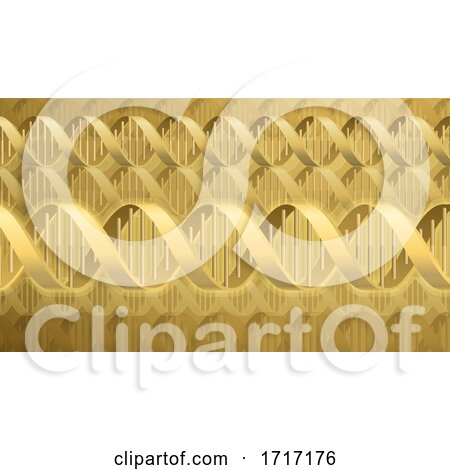 DNA Double Helix Molecule Background by AtStockIllustration
