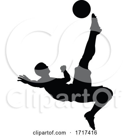 Soccer Football Player Silhouette by AtStockIllustration