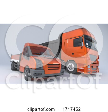 Tipper Dump Truck Isolated Posters, Art Prints