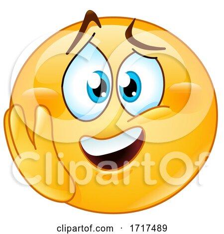 Yellow Emoji Smiley Looking Emotional Posters, Art Prints