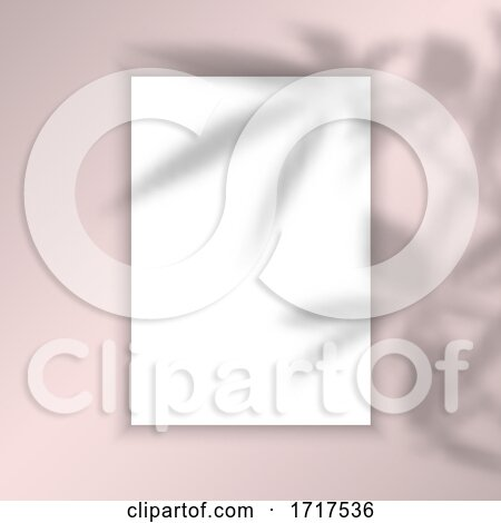Blank Picture Background with Leaves Shadow Overlay by KJ Pargeter