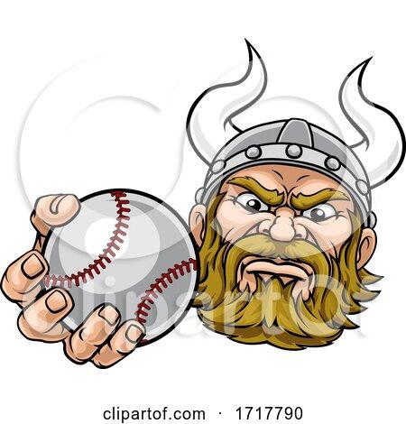 Viking Baseball Ball Sports Mascot Cartoon by AtStockIllustration