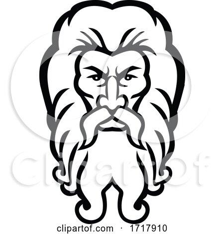 Head of Atlas Greek God Front View Mascot by patrimonio