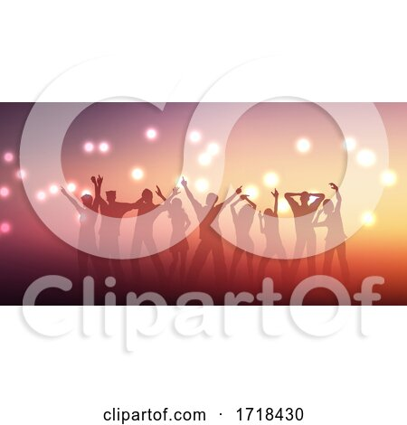 Banner Design with Silhouettes of People Dancing by KJ Pargeter