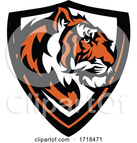 Tiger Mascot in a Shield by Chromaco
