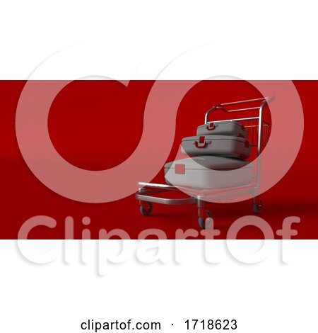 Suitcase on Wheels Isolated on Background. Travel Concept by KJ Pargeter