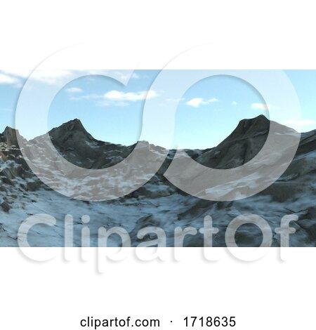 Snowy Winter Mountain Side by KJ Pargeter
