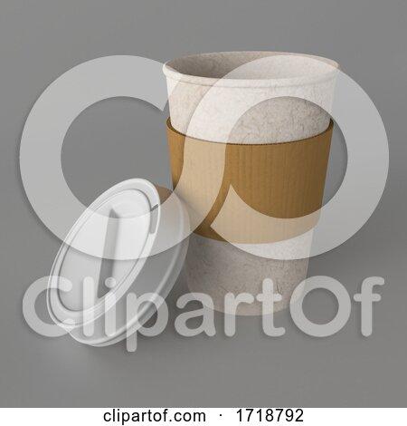 3d Takeaway Coffee Cup Posters, Art Prints