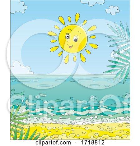 Cheerful Sun over a Beach by Alex Bannykh