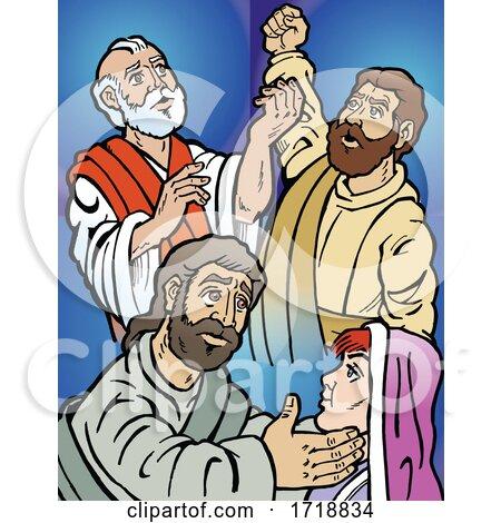 Three Apostles James Simon Thaddaeus by Johnny Sajem
