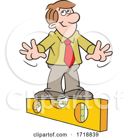 Cartoon Honest Business Man on the Level by Johnny Sajem