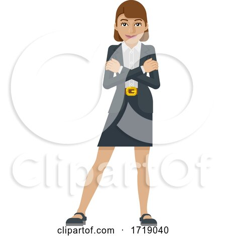 Business Woman Mascot Concept by AtStockIllustration