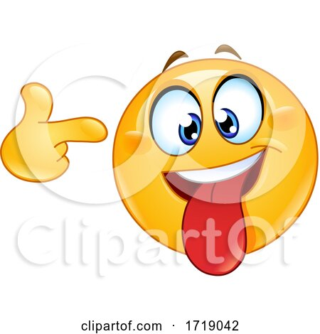 Yellow Smiley Emoji Pointing a Finger to His Head Posters, Art Prints