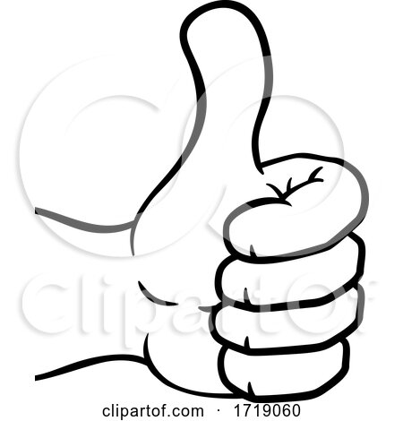 Thumbs up Hand Cartoon Icon Posters, Art Prints