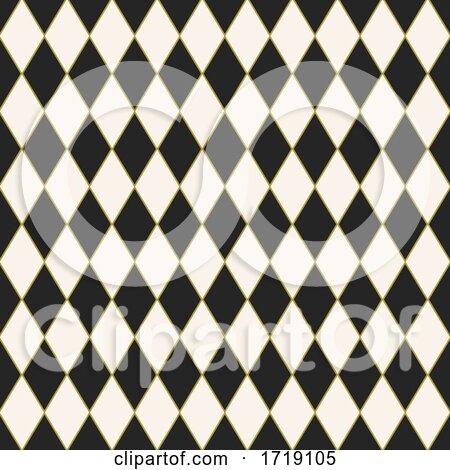 Seamless Tiled Harlequin Pattern Design by KJ Pargeter