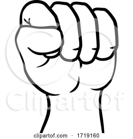 Fist up Hand Punch Cartoon Icon by AtStockIllustration