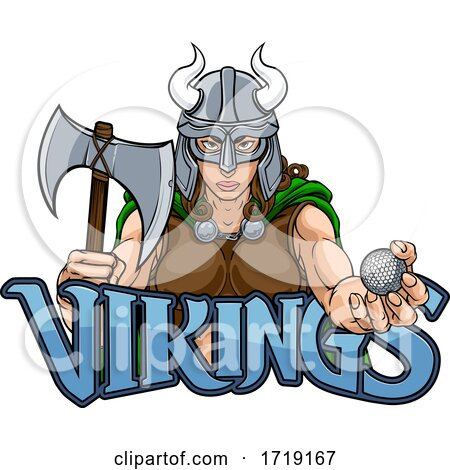 Viking Female Gladiator Golf Warrior Woman by AtStockIllustration