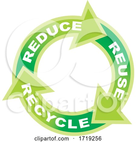 Green Reduce Reuse Recycle Arrows by Any Vector