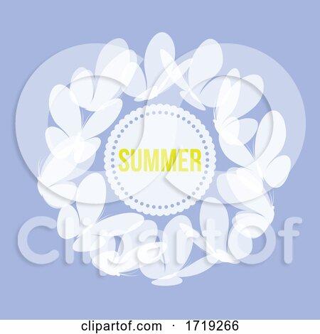 Elegant Butterflies Around Summer Text by elena