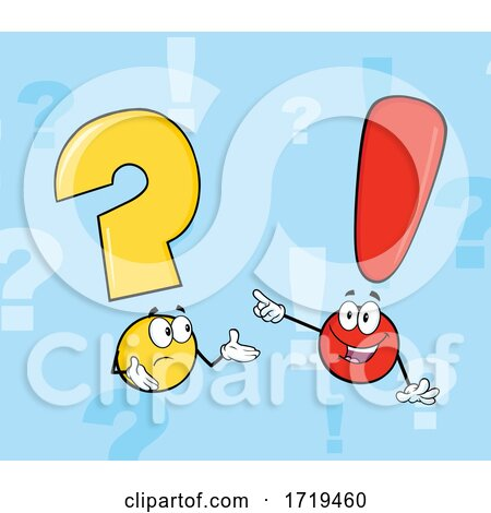 Question Mark and Exclamation Point Talking by Hit Toon