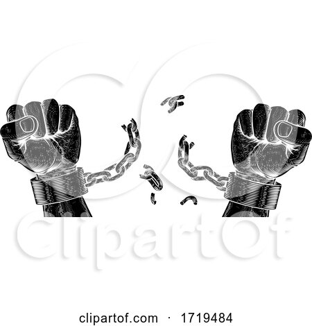 Hands Breaking Chain Shackle Handcuffs Posters, Art Prints