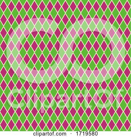 Seamless Harlequin Pattern Background by KJ Pargeter