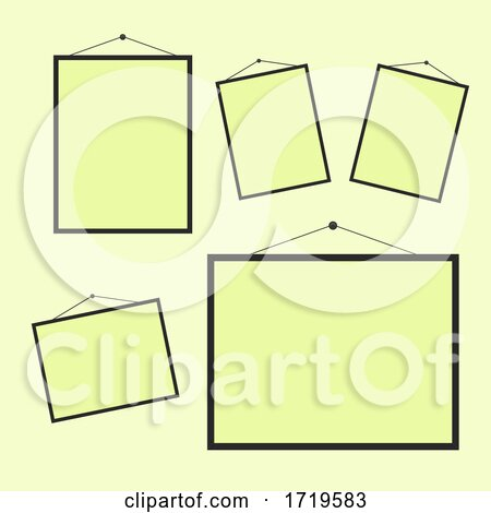 Collection of Blank Hanging Picture Frames by KJ Pargeter