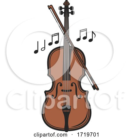 Violin and Music Notes by Vector Tradition SM