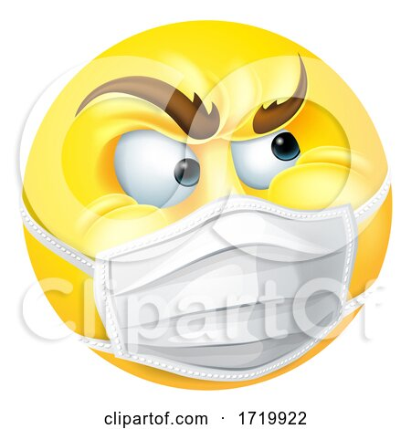 Angry Emoticon Emoji PPE Medical Mask Face Icon Posters, Art Prints