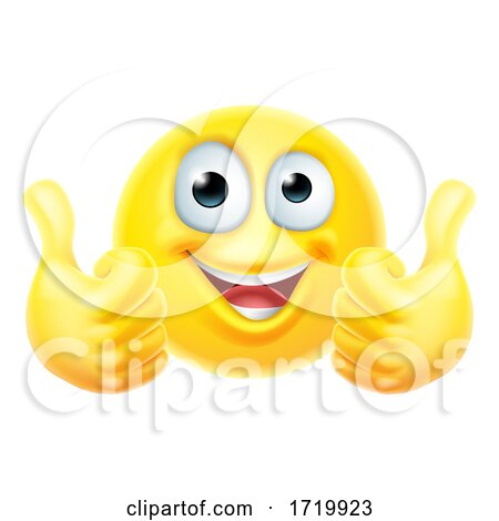 Thumbs up Emoticon Emoji Face Cartoon Icon Posters, Art Prints