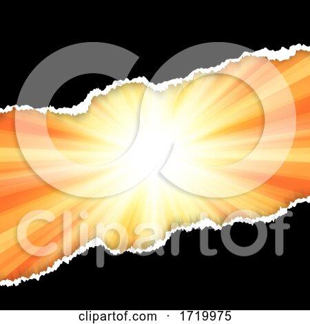 Torn Paper Design on Starburst Background by KJ Pargeter