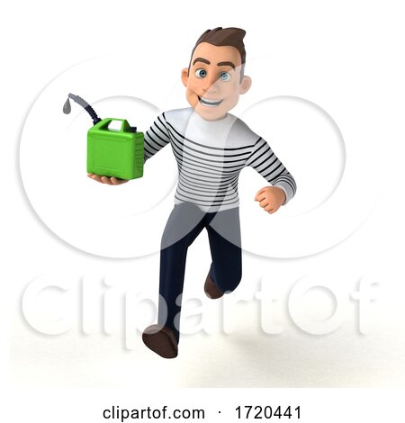 3d Breton Man, on a White Background by Julos