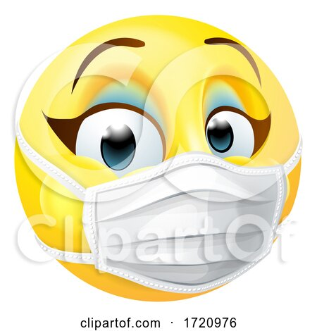 Woman Emoticon Emoji PPE Medical Mask Face Icon Posters, Art Prints