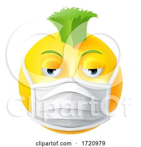 Punk Emoticon Emoji PPE Medical Mask Face Icon Posters, Art Prints