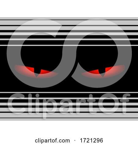 Evil Eyes Black Panel and Stripes by elaineitalia