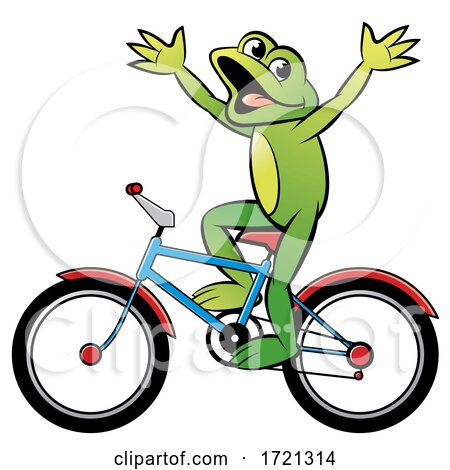Frog Riding a Bicycle by Lal Perera