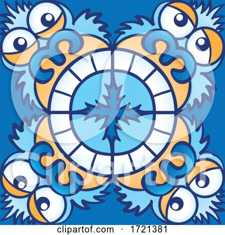 Abominable Snowman Pattern Posters, Art Prints