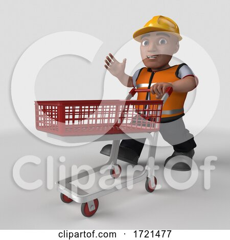 3D Builder Character on a Shaded Background Posters, Art Prints