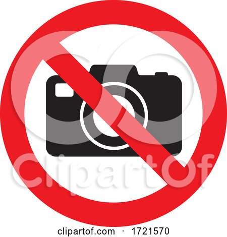 No Photos Sign by Any Vector