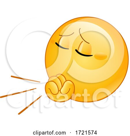 Emoji Smiley Emoticon Coughing Posters, Art Prints