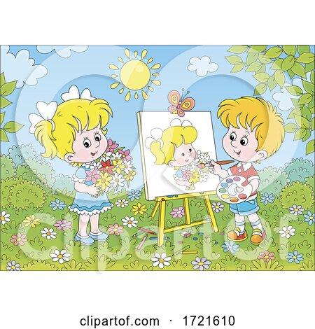 Children Painting by Alex Bannykh