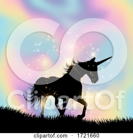 Unicorn Themed Hologram Gradient Background by KJ Pargeter