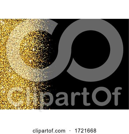 Gold Glitter Background by dero