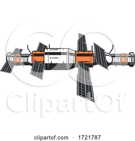 Satellite Space Exploration Design by Vector Tradition SM