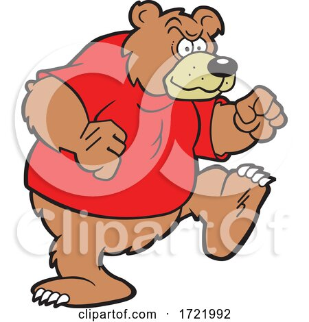 Determined Bear Mascot by Johnny Sajem